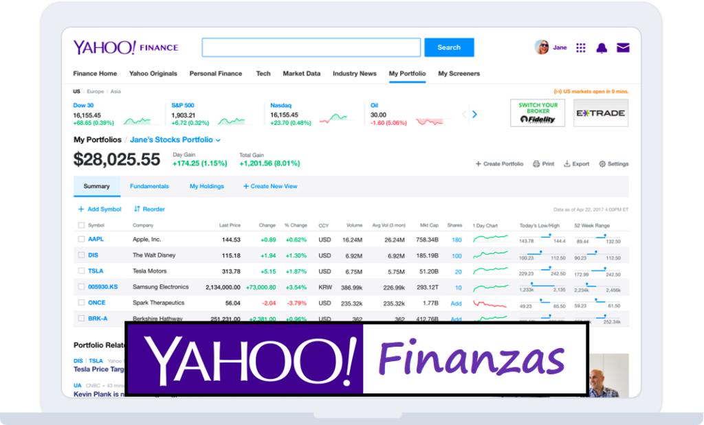 yahoo finanzas web